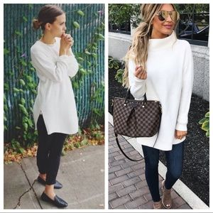VGT Cable Knit Tunic Sweater